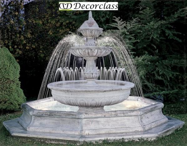 Beste fontein cm 320x270h wit cement tuin IS-73
