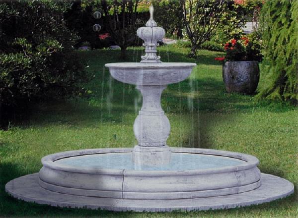 Splitter nya Fontän av vit cement för trädgården cm 325x195h XZ-18