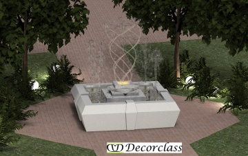 Modern fountain design cm172x172x125h copia