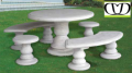 Tavoli e sgabelli da giardino in cemento bianco decorclass